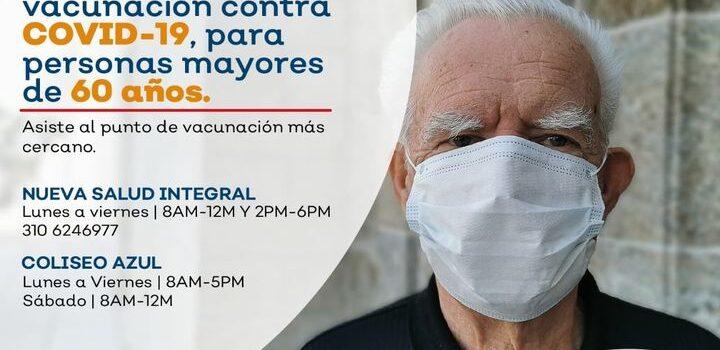Inició vacunación de mayores de 60 años contra el Covid19, en San José del Guaviare