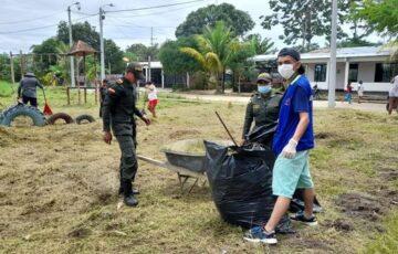 Alcaldía de Inírida realizó limpieza, recuperación y embellecimiento del parque del barrio Brisas del Palmar