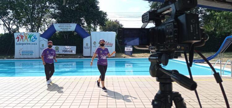 Con programación virtual y acompañamiento a deportistas, la Administración Municipal de Popayán promueve actividad física segura