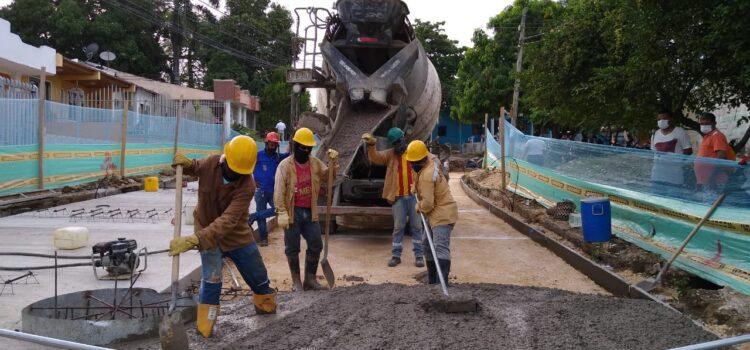 En Sincelejo, la vía en construcción de ruta pioneros avanza con el 50% de ejecución