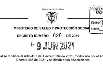 Decreto 630 de 2021 prioriza a los y las gestores sociales de la Nación, Departamentos y Municipios para vacunación Covid-19