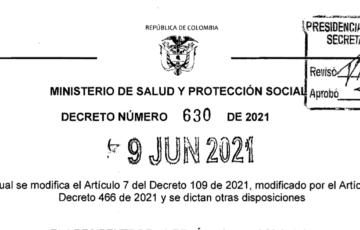 Decreto 630 del 9 de junio de 2021