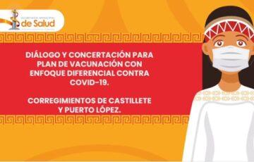 En Uribia se realizó mesa de diálogo y concertación para la vacunación contra el Covid-19 con enfoque diferencial
