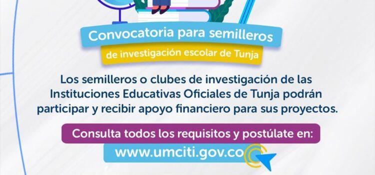 Convocatoria para semilleros de investigación escolar de Tunja