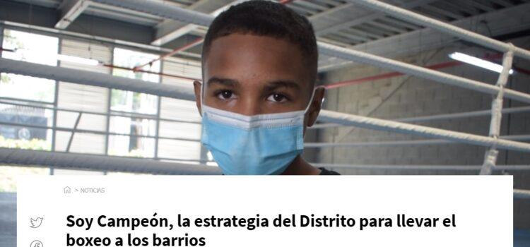 Soy Campeón, la estrategia del Distrito para llevar el boxeo a los barrios
