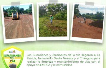 Alcaldía de Puerto Carreño continúa con la limpieza y mantenimiento de vías