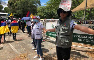 Gestores de Paz, presentes en las protestas del 20 de julio en Neiva