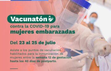 Vacunatón para mujeres embarazadas en Puerto Carreño