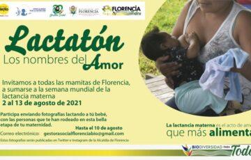 La administración municipal invita a todas las madres de Florencia, a sumarse a la semana mundial de la lactancia materna