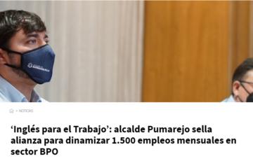 """""""Inglés para el Trabajo"""": Alcalde de Barranquilla sella alianza para dinamizar 1.500 empleos mensuales en sector BPO"""