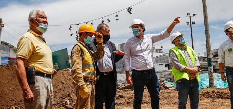 Alcalde de Manizales evaluó el avance de obras en La Enea, Palermo, Estadio Palogrande y Faneón
