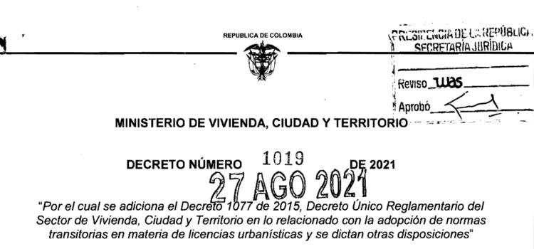 DECRETO 1019 DEL 27 DE AGOSTO DE 2021 (1)