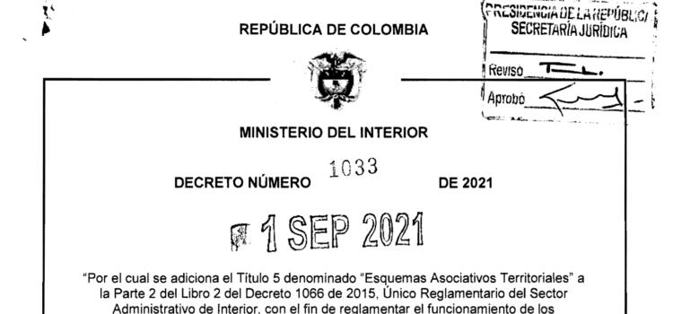 DECRETO 1033 DEL 1 DE SEPTIEMBRE DE 2021