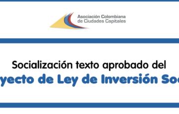 Conozca los artículos aprobados en el Proyecto de Ley de Inversión Social, de interés para las ciudades capitales