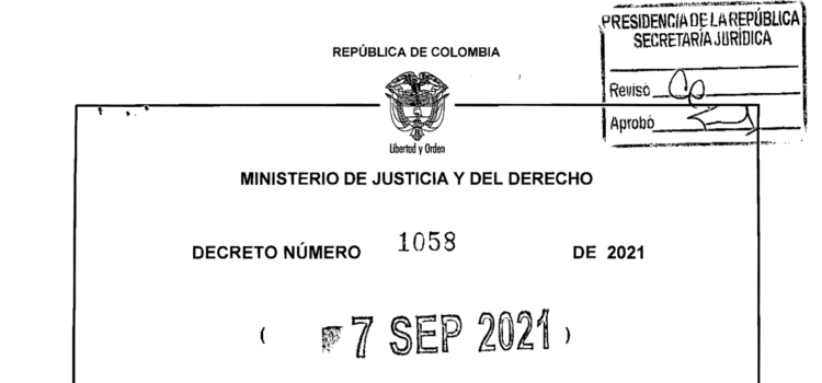 DECRETO 1058 DEL 7 DE SEPTIEMBRE DE 2021