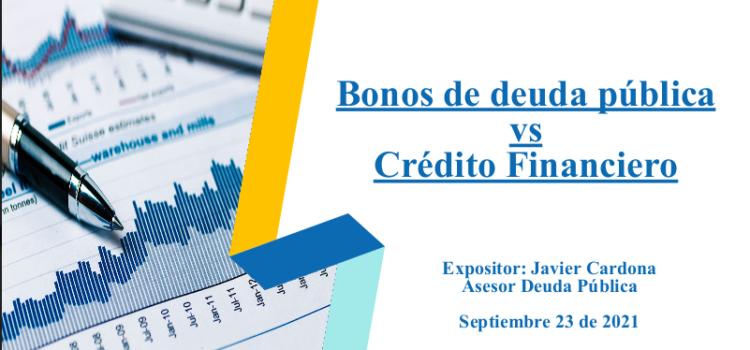 Bonos de deuda pública vs Crédito Financiero