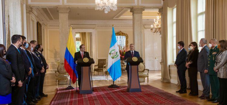 Colombia y Guatemala hacen alianza comercial y trabajarán en la lucha contra las drogas