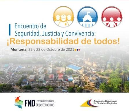 Primer Encuentro de seguridad, justicia y convivencia inicia hoy en Montería